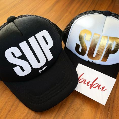Bubu - Gold Foil SUP Black/White Trucker Hat