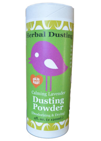 BALM! BABY HERBAL DUSTING POWDER  ALL NATURAL - TALC FREE