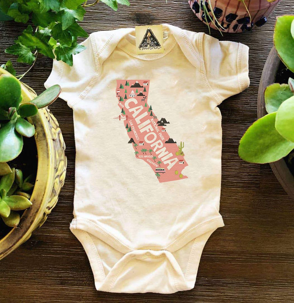 The Pine Torch - California State Map Bodysuit
