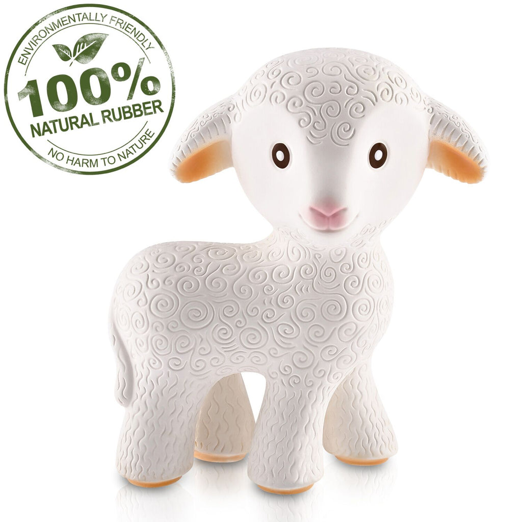 CaaOcho - Mia the Lamb Teething Toy - 100% Pure Natural Rubber