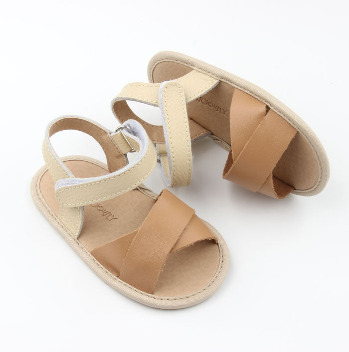 Consciously Baby - Flex-Rubber Sole Baby Leather Sandal | Ref 'Maui'