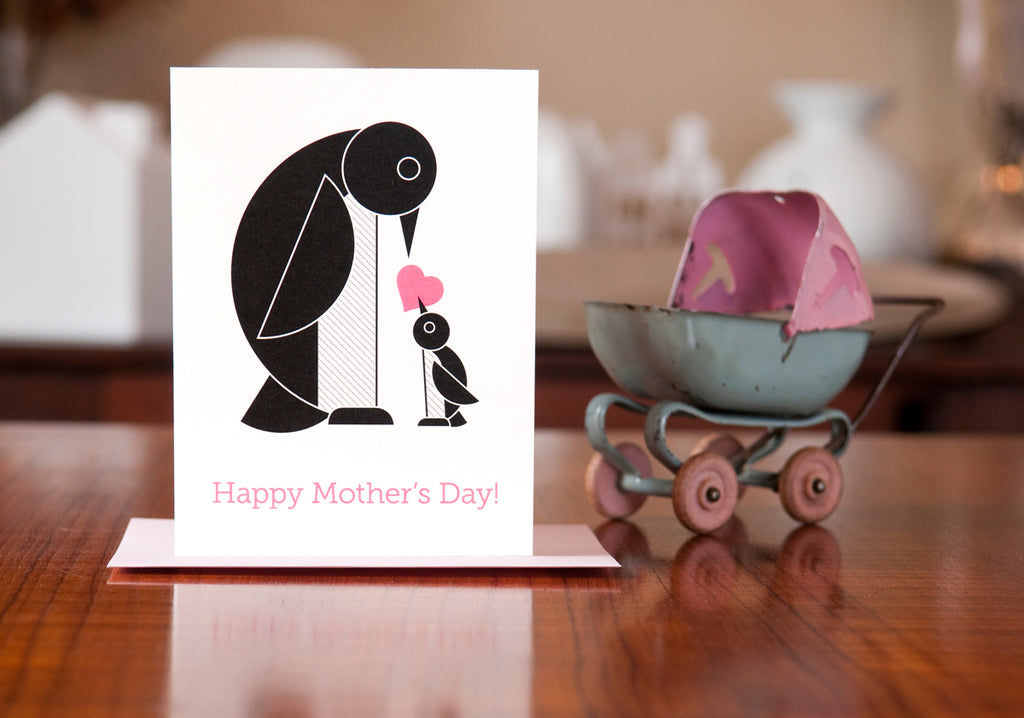 MAN vs. GEORGE DESIGN - Arch of the Penguins Mother's Day Card