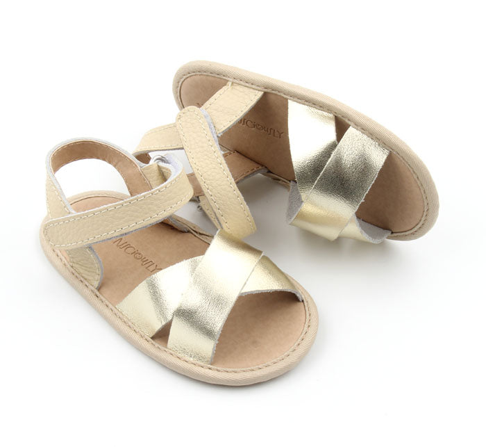 Consciously Baby - Flex-Rubber Sole Baby Leather Sandal | Ref 'Cabo'
