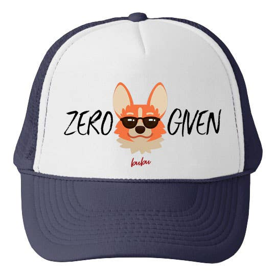 Bubu - Zero Fox Given Navy/White Trucker Hat