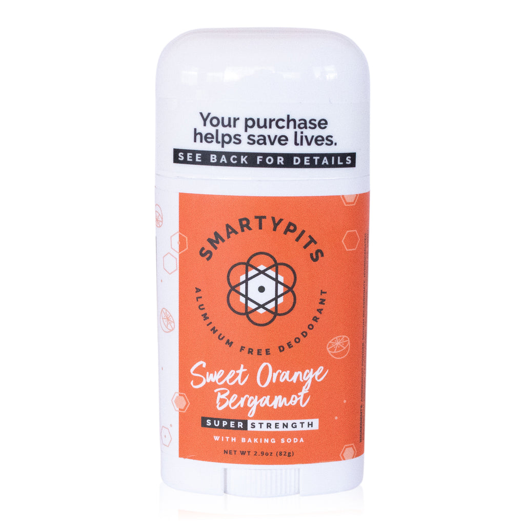 SmartyPits - Sweet Orange Bergamot | Standard Formula with Baking Soda