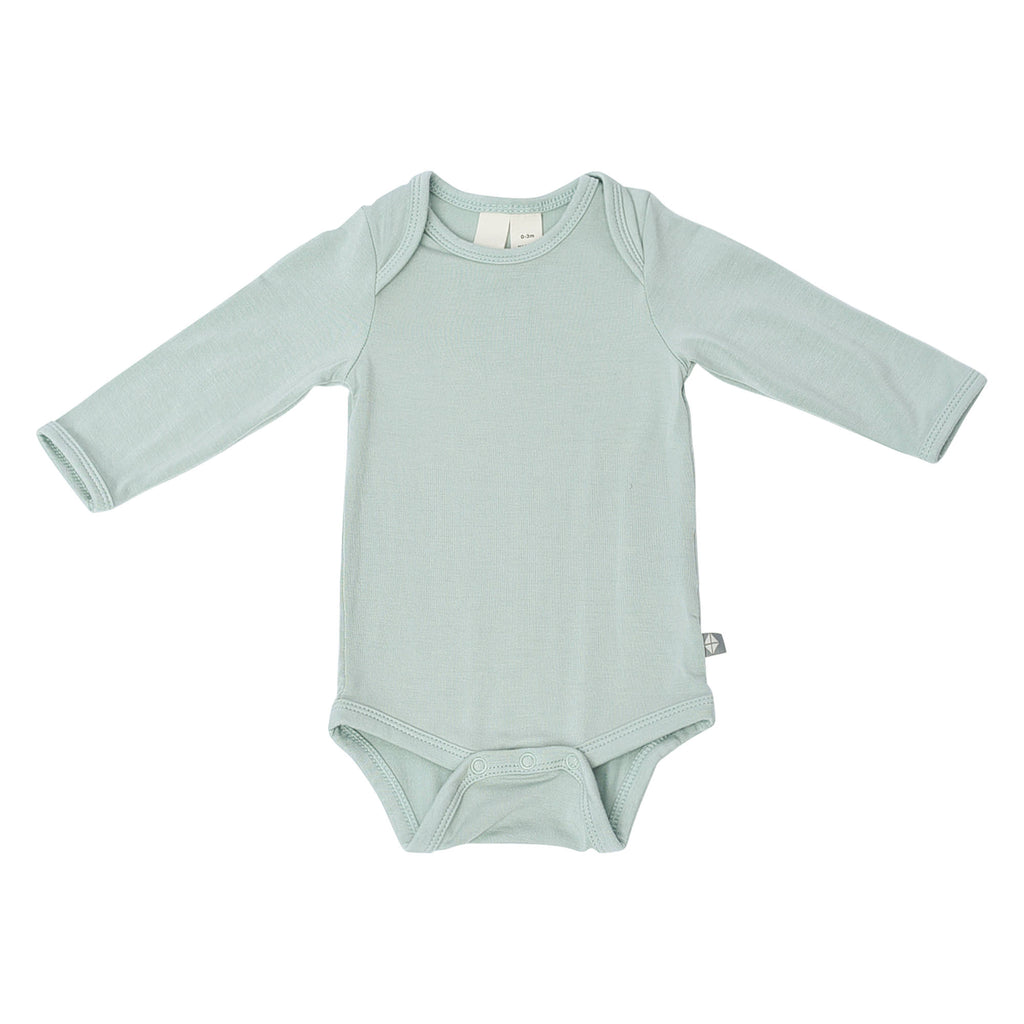 Kyte BABY - Long Sleeve Bodysuit in Sage