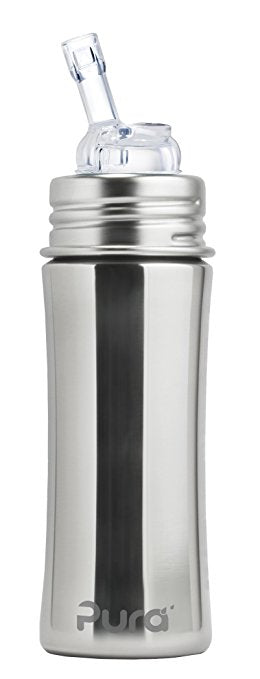 Pura Straw Bottle 11oz Natural Mirror