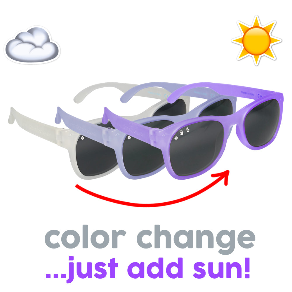 Roshambo Baby - Wonka Color Changing Purple Baby Sunglasses - Polarized