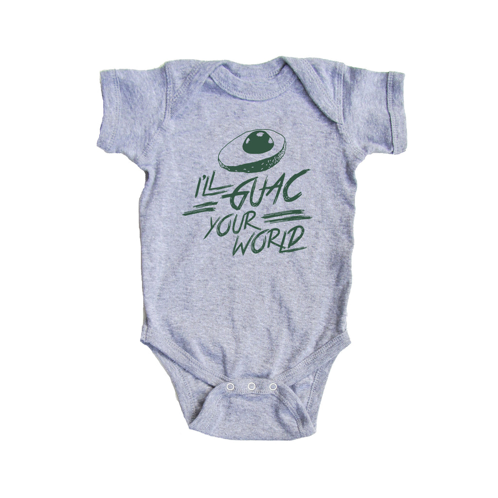 Bad Pickle Tees - I'll Guac Your World Onesie