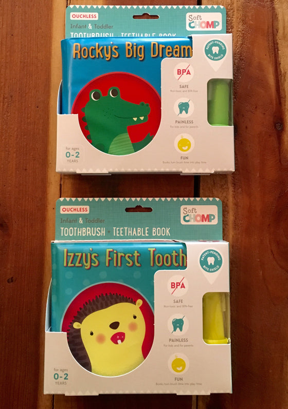 Soft Chomp Toothbrush and Teethable Book Set