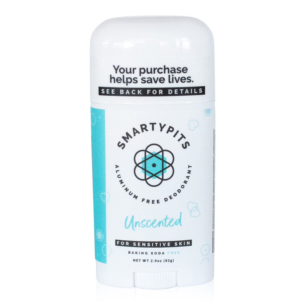 SmartyPits - Unscented | Sensitive Skin Formula | Baking Soda Free