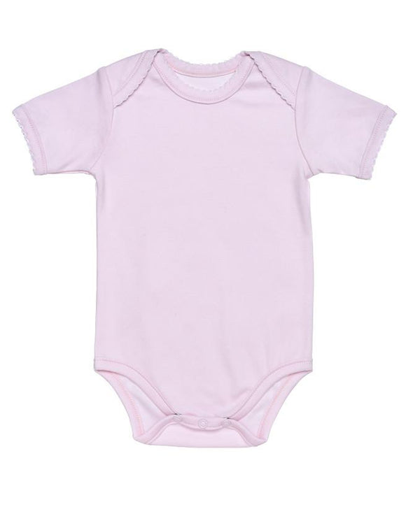Under The Nile Pink Baby Body - Short Sleeve