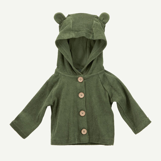 Oliver & Rain NEW Olive Green Brushed Terry Hooded Jacket