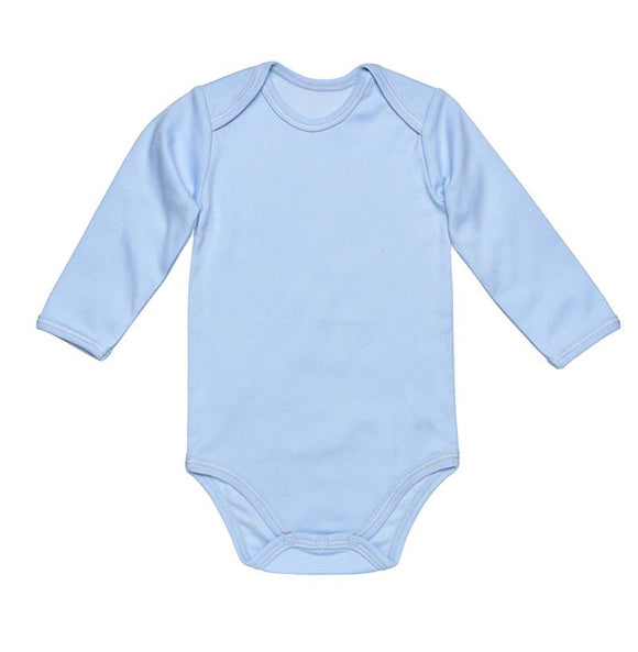 Under The Nile Blue Baby Body - Long Sleeve