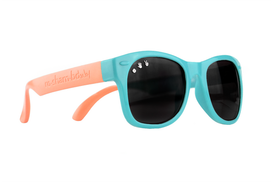 Roshambo Baby - Fraggle Rock Teal & Coral Baby Sunglasses - Polarized