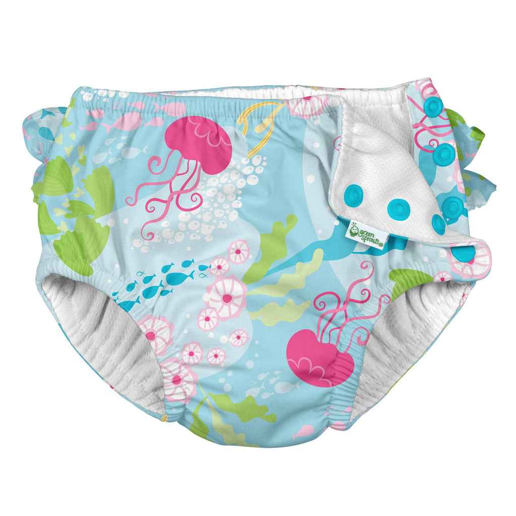 Green Sprouts, Inc. - Ruffle Snap Reusable Swimsuit Diaper