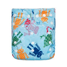 Kawaii Baby One Size Premium Bamboo Pocket Cloth Diaper + 2 Bamboo Inserts