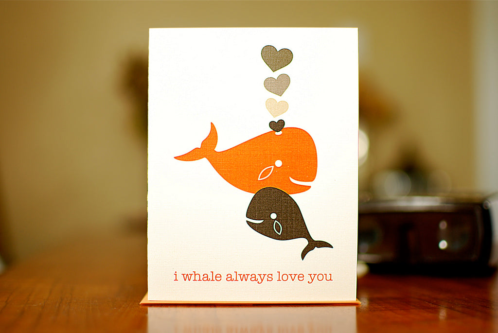 MAN vs. GEORGE DESIGN - I Whale Always Love You New Baby Card