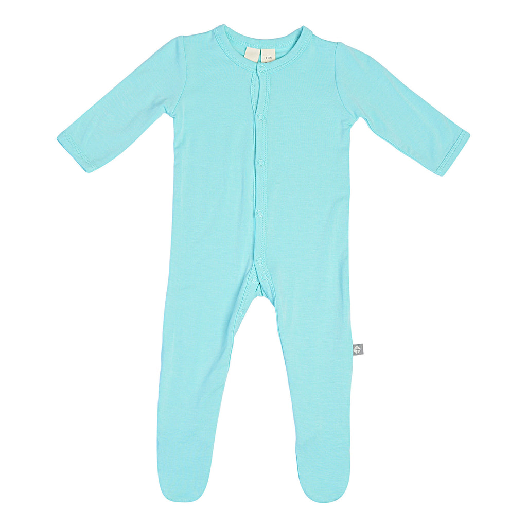 Kyte BABY - Solid Footie in Aqua