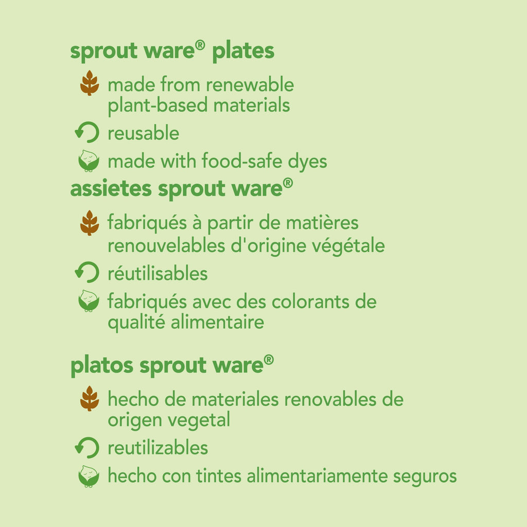 Green Sprouts - Sprout Ware® Plates made from Plants (3 pack)