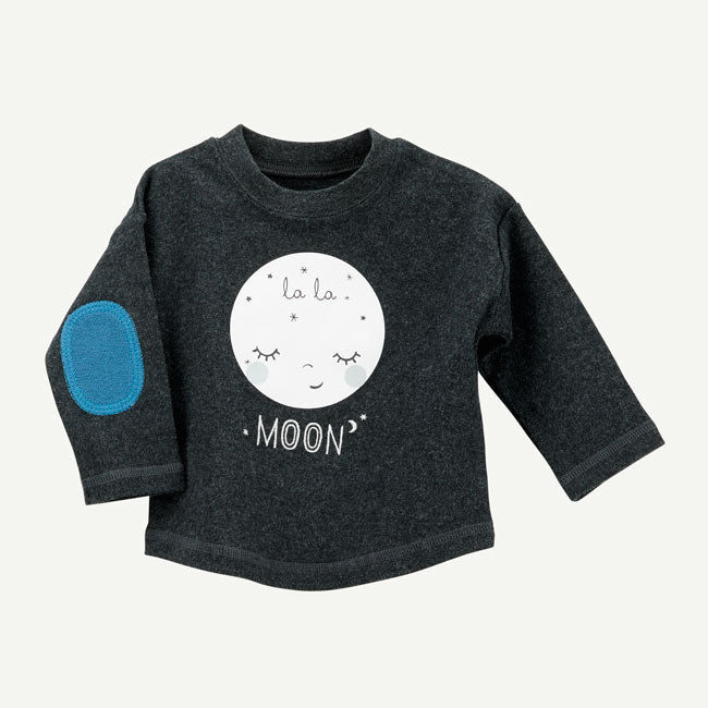 Oliver & Rain NEW Black Moon Graphic Long Sleeve Shirt