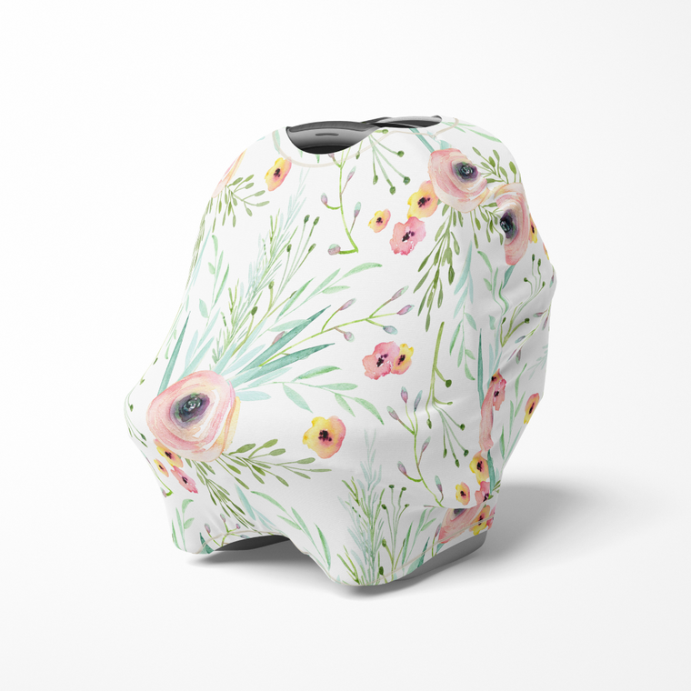 Multi use baby cover - Floral kiss