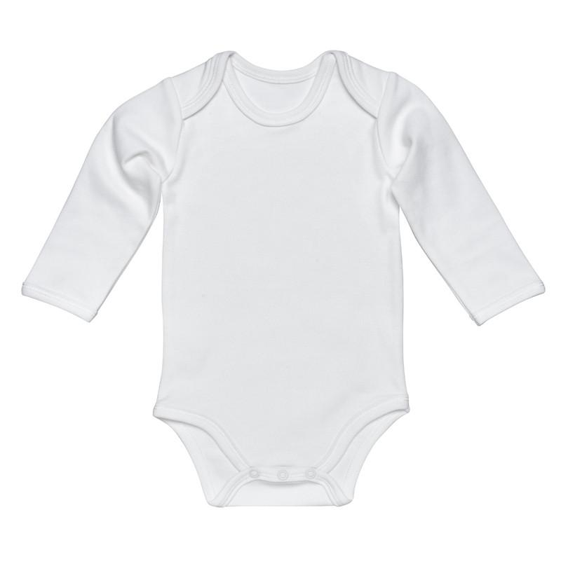 Under The Nile Off White Baby Body - Long Sleeve