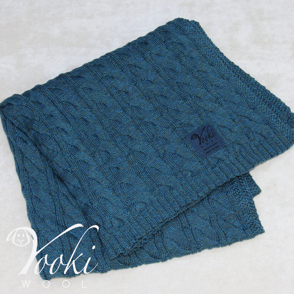 Yooki Wool - MERINO WOOL CABLE KNIT BLANKET