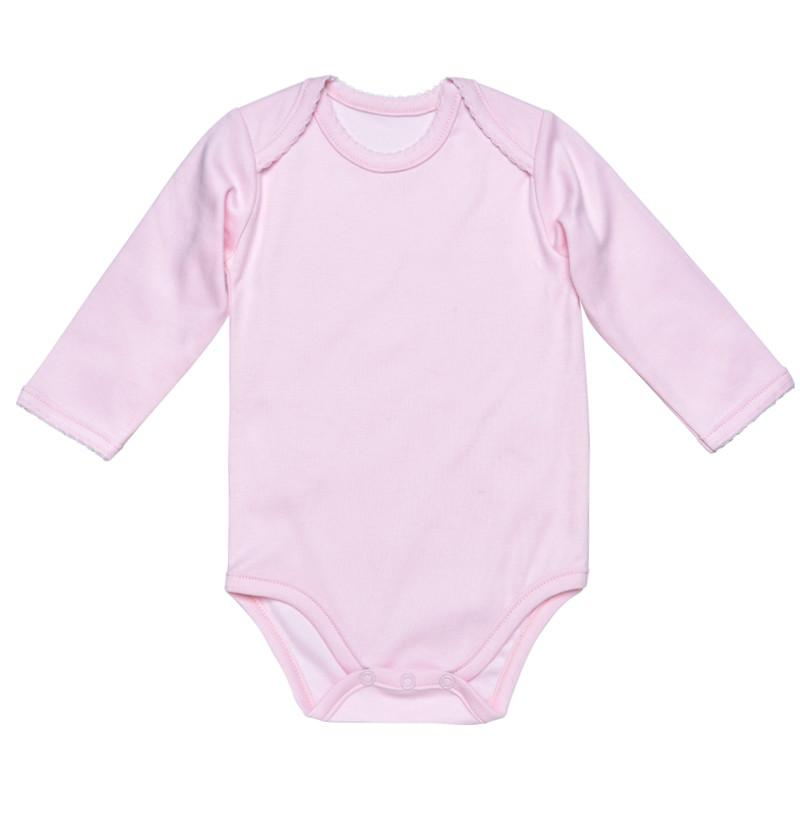 Under The Nile Pink Baby Body - Long Sleeve