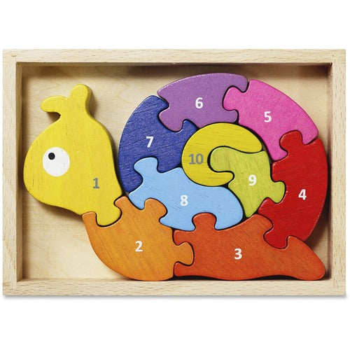 BeginAgain Number Snail Learning Puzzle