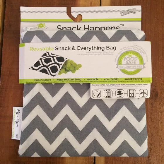 SNACK HAPPENS™ REUSABLE SNACK AND EVERYTHING BAG