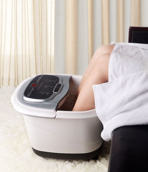 MedicPure Heated Foot Bubble Bath Motorized Massager