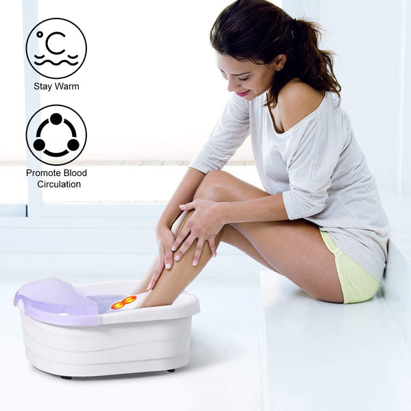Portable Bubble Heating Foot Spa Bath Massager