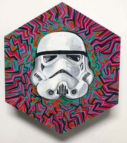 "Storm Trooper Hex 13"" x 13"""