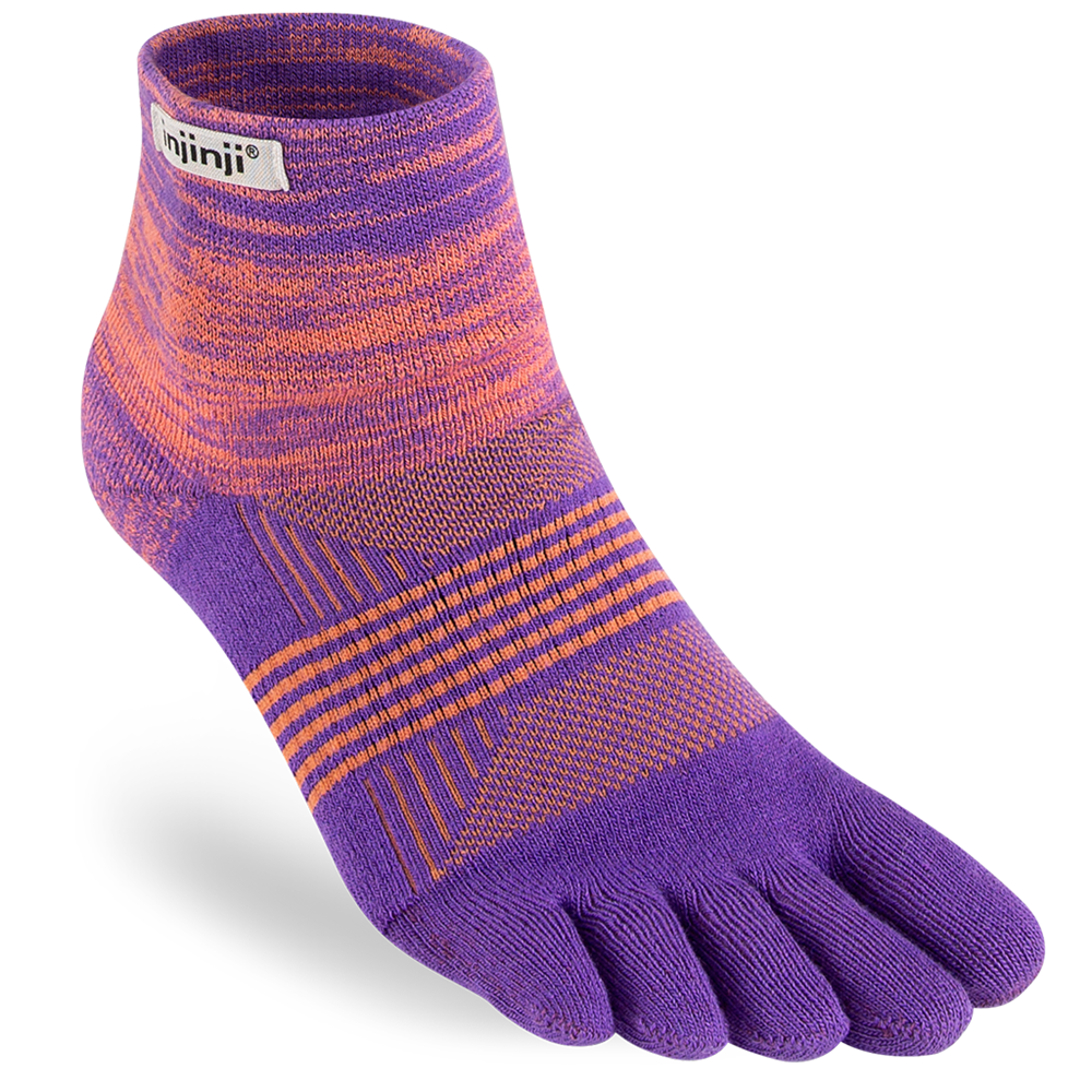 Womens Specific Injinji TRAIL 2.0 Midweight Mini Crew Socks