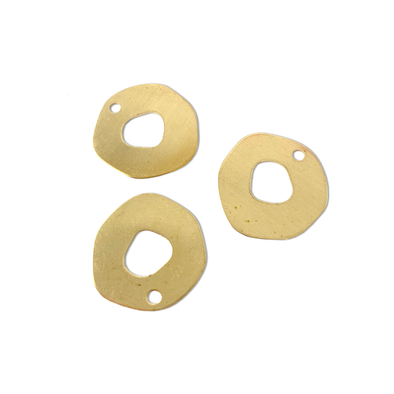 Organic Donut 10-Piece Raw Brass Charm