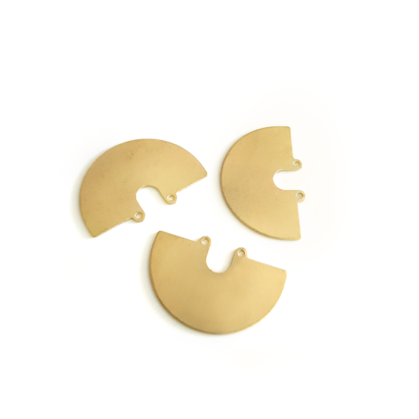 Arch 6-Piece Raw Brass Charm