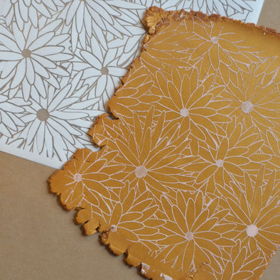 Texture & Silkscreen Set - Large Floral (2pcs)
