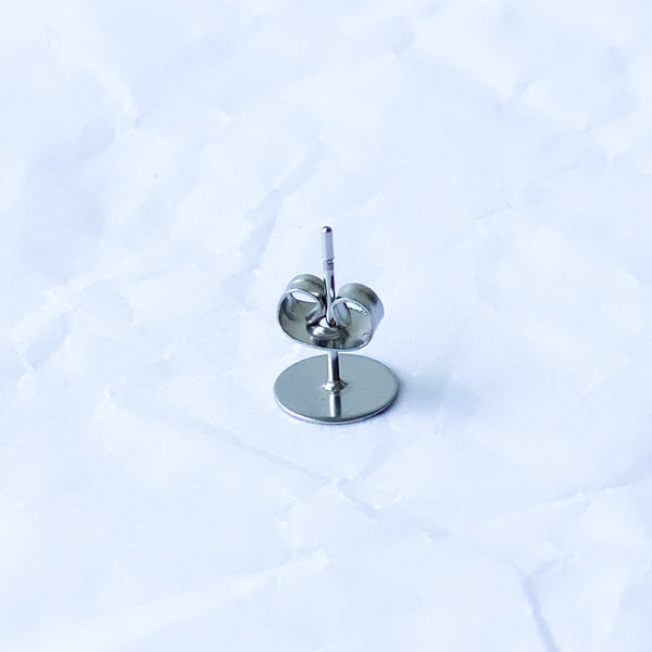 8mm Surgical Stainless Steel Earposts