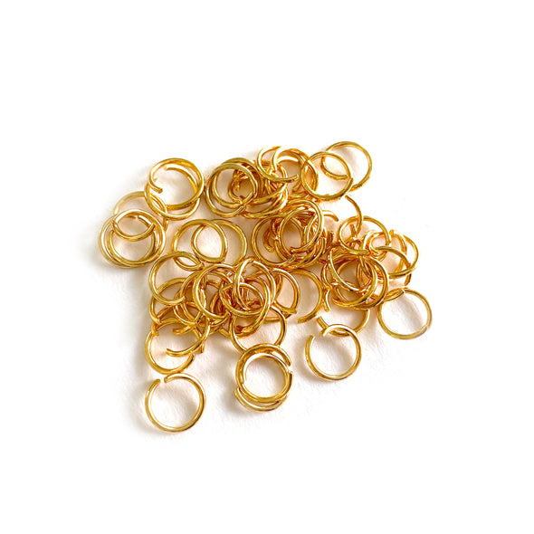 8mm Gold Stainless Steel Jump rings