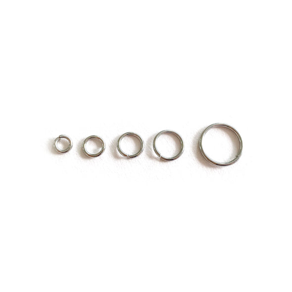 4mm Silver Stainless Steel Jump rings