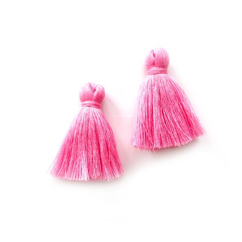 40mm Cotton Tassels - 1 pair (Rose)