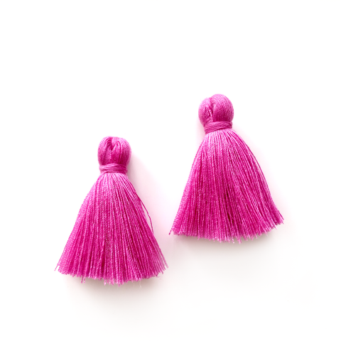 40mm Cotton Tassels - 1 pair (Plum)