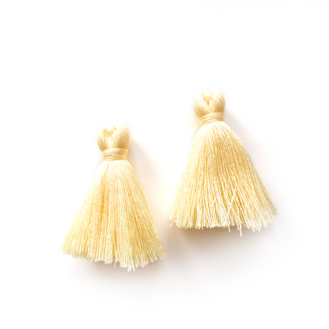 40mm Cotton Tassels - 1 pair (Banana)
