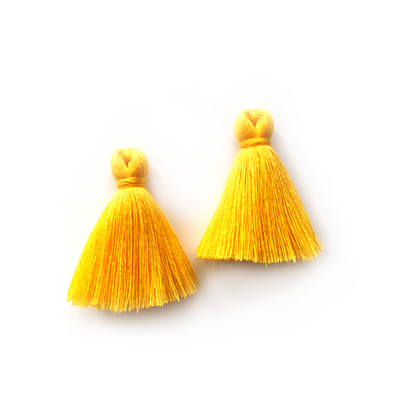 40mm Cotton Tassels - 1 pair (Canary)