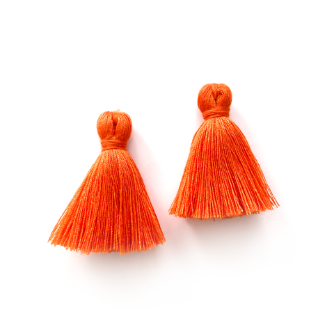 40mm Cotton Tassels - 1 pair (Pumpkin)