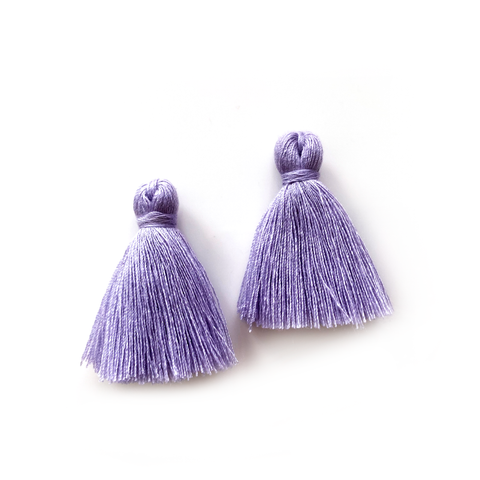 40mm Cotton Tassels - 1 pair (Thistle)
