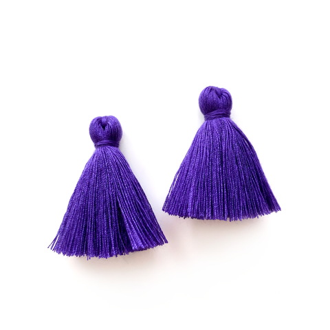 40mm Cotton Tassels - 1 pair (Eggplant)