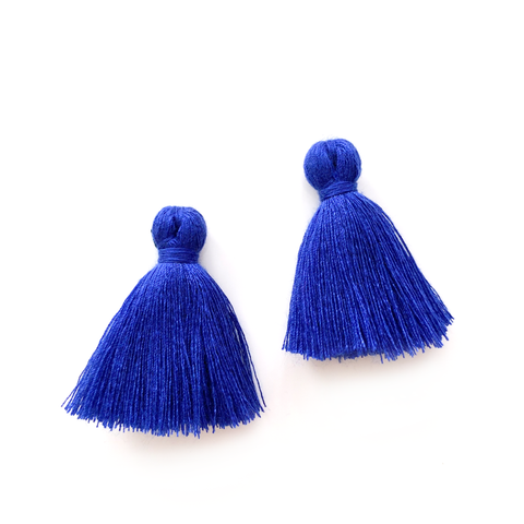 40mm Cotton Tassels - 1 pair (Navy)