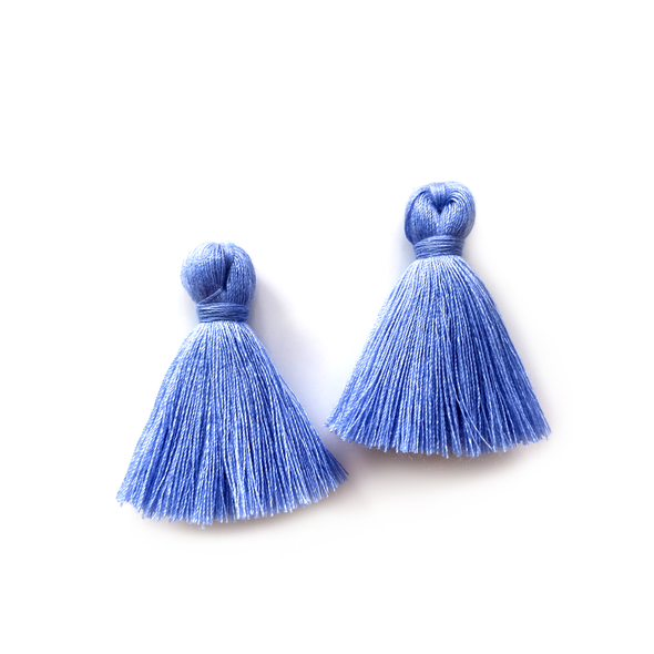 40mm Cotton Tassels - 1 pair (Sky)